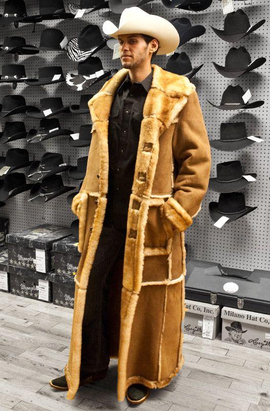 Continental Mens Western Wear Sheepskin Jacket Shearling Coat