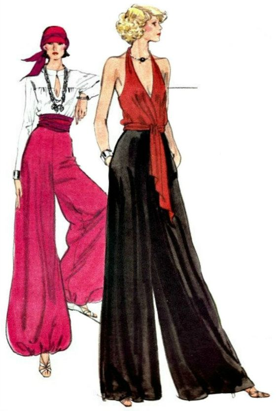 This pattern book shows women how to make Palazzo Pants. These were very popular during the 70s for women.