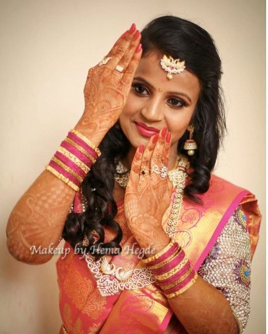 Glitter Eyes Glitter Eye Makeup South Indian Bride