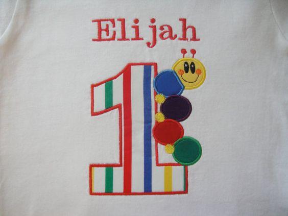BABY EINSTEIN Inspired Custom Birthday Embroidery by GIGIEZfashion, $26.99