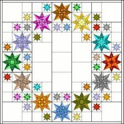 PDF Anleitung Block of the Month 2012 Zodiac Stars - versandkostenfrei!