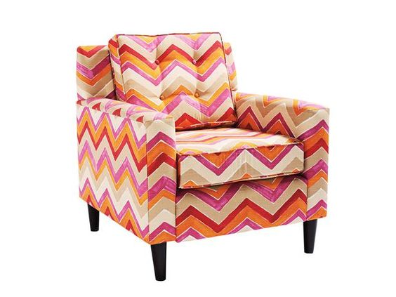 Does anyone else hear this bright zigzag chair calling their name? Just us? #hgtvmagazine #HighLow http://www.hgtv.com/decorating-basics/the-highlow-shopping-guide/pictures/page-2.html?soc=pinterest: Chairs Living, Living Room Chairs, Chevron Pattern, Chair Grandinroad, Chairs Chevron, 599 Grandinroad, Bedrooms Ideas, Grandinroad Color