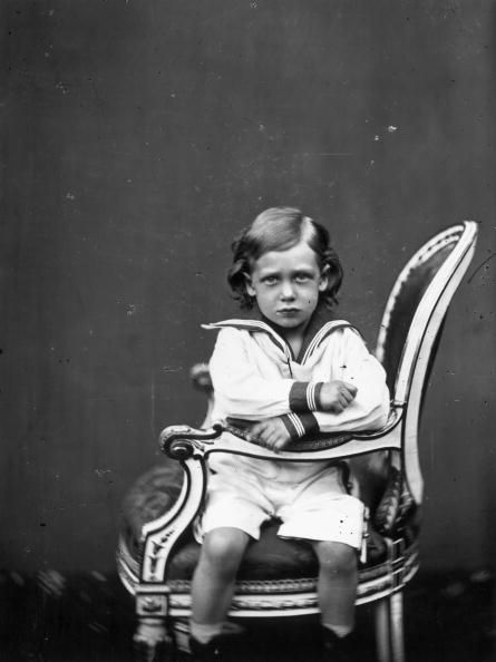 King George V (1865 - 1936) as a child, circa 1869.