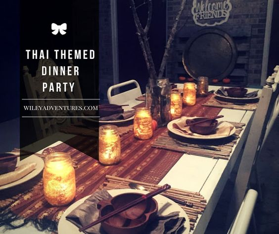 Home Decorating Ideas With An Asian Theme: Thai Themed Dinner Party Asian Dinner Ideas, Recipes