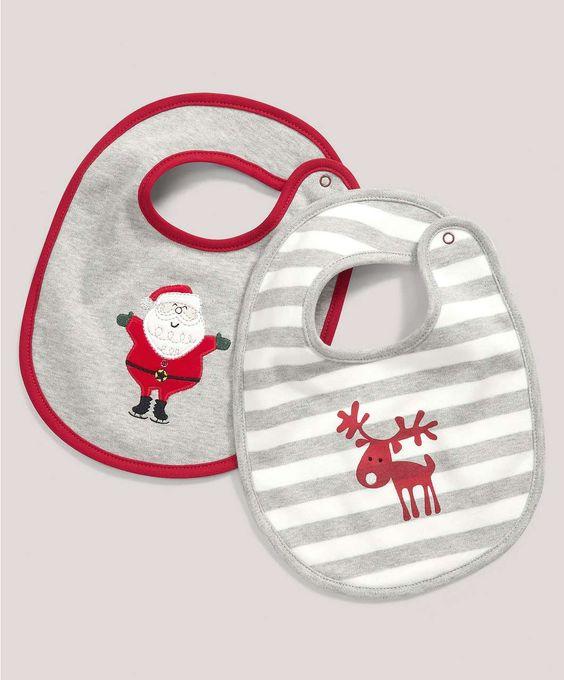 Christmas 2 Pack Bibs - All Christmas - Mamas & Papas