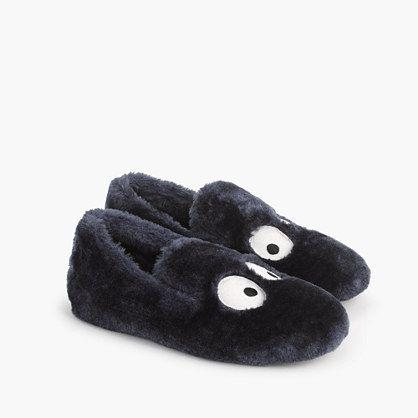 We love Max the Monster! He's so terrifyingly cute, we put him everywhere...including on these extra-cozy furry slippers!<ul><li>Faux shearling upper.</li><li>Man-made sole.</li><li>Import.</li><li>Select stores.</li></ul>