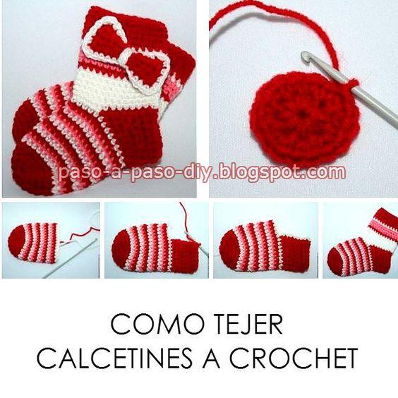Una idea super fácil para tejer calcetines al crochet! aprende cómo hacerlos paso a paso