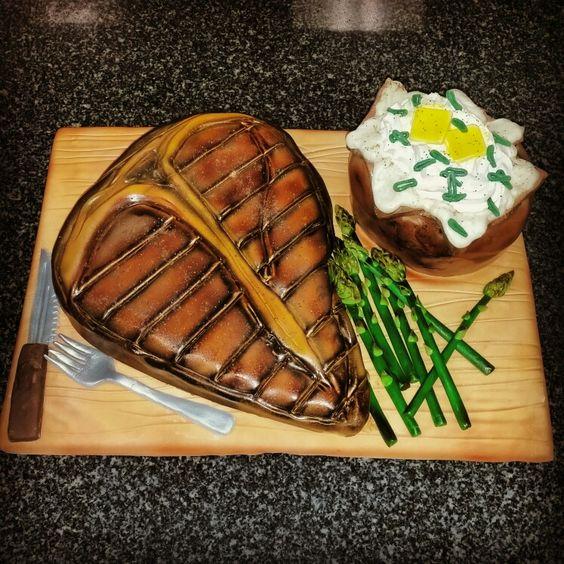 T-bone Steak dinner cake