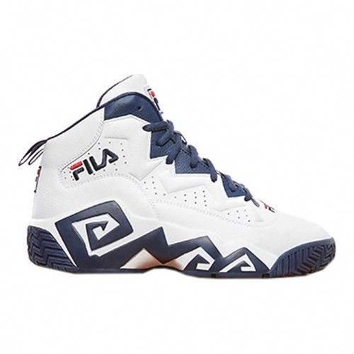 Men's Fila MB Basketball Shoe BlackFila RedWhite
