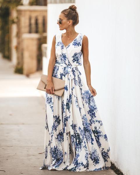 40+ White floral maxi dress info
