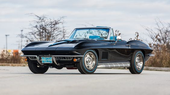 1967 CHEVROLET CORVETTE CONVERTIBLE, The Only Known Black/Blue 435 HP Convertible, LOT S146.1