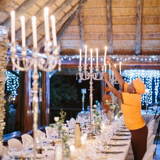 Game drives, dinner under a starlit sky and rustic décor, this African safari wedding is mesmerising! Photo by Rensche Mari
