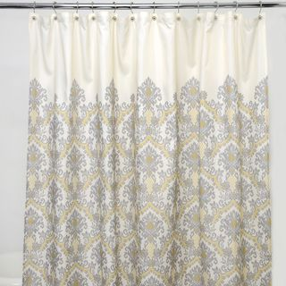 Bedazzled Grey Damask 100-percent Polyester Shower Curtain ...