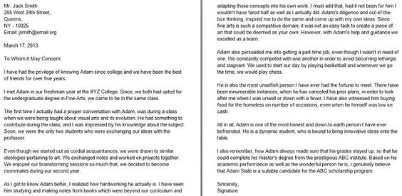 40+ Personal Reference Letter Samples \ Templates Projects to - letter of character