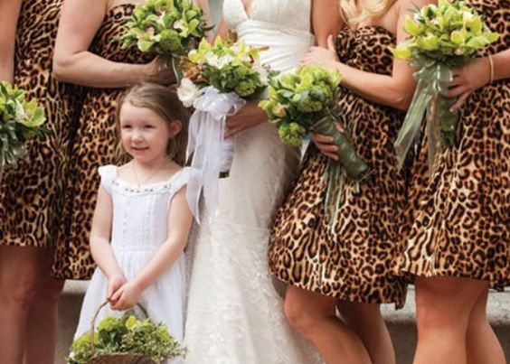 cheetah print bridesmaid dresses