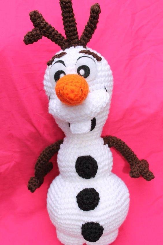 Olaf El Muñeco De Nieve Amigurumis, Disney Frozen. - $ 250,00 en MercadoLibre