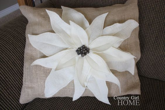 COUNTRY GIRL HOME : PB Poinsettia Pillow Knock off