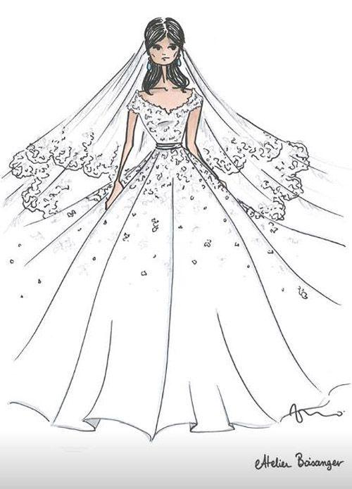 Boda Religiosa Louis Ducruet Y Marie Chevallier El Romantico Vestido De Novia Disenado Por Pauline In 2020 Wedding Dress Sketches 2nd Wedding Dresses Wedding Dresses
