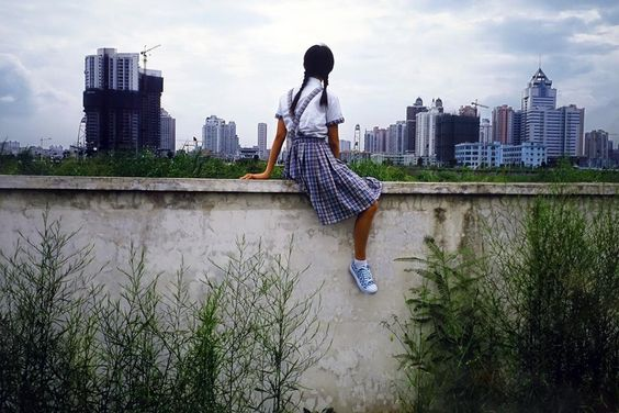 "Weng Fen, ""On the Wall, Shenzhen (1), (2002)"