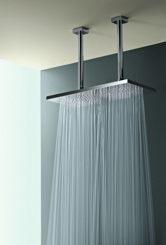 I would stay in the shower for hours!!! Ceiling Mount Double Shower Head  When I Think of Home - Bathroom Shower Head Ideas