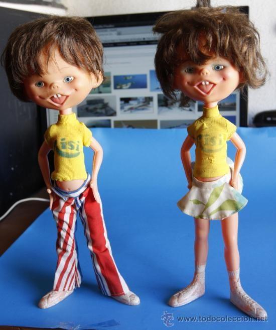 PAREJA DE MUÑECOS RISI. NIÑO Y NIÑA. MUY RAROS LA PAREJA (Juguetes - Otras Muñecas Españolas Modernas)