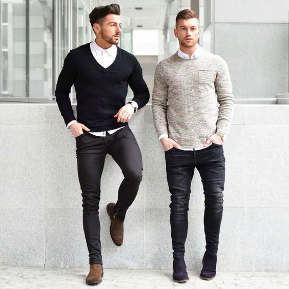 men smart casual outfit street style