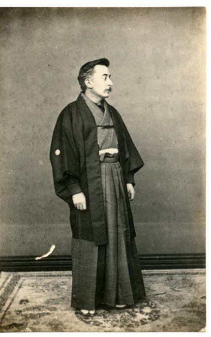 1891. Lafcadio Hearn in Matsue, in his first 'Shogatsu' New Year.