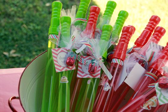 Strawberry Shortcake Party Favors  Bubble Wands - for the boys & girls!  www.andreasteed.com