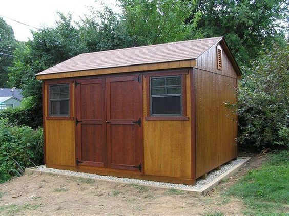 10 39 x12 39 a frame shed with rustic cedar mahogany stain for Garden shed ventilation