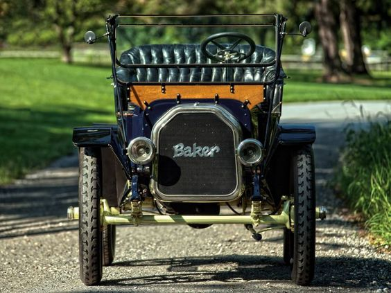 1912 Baker Electric Model-W Runabout retro    f wallpaper background