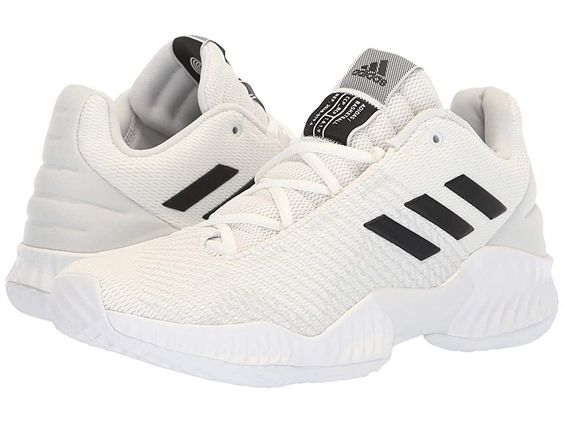 adidas Pro Bounce Low (White/Black/Crystal White) Men's Shoes. The adidas Pro Bounce Low basketball sneakers keep all-around skills in mind  pairing lightweight  breathable performance with a locked-in fit for the support you need to take your game to the next level. Low-top basketball shoes feature an engineered  breathable fabric upper. Forgefiber uppers blend TPU-coated and heat-pressed yarns with reinforced stitching at st #adidas #Shoes #Athletic #GeneralAthletic #White