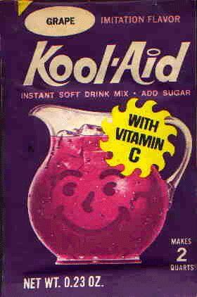 Je n'avais pas souvent le droit de boire du Kool Aid... Mais quand j'avais le droit mautadine que j'étais contente!