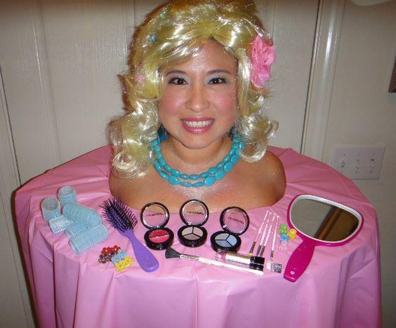 A Barbie Styling Head Halloween Costume lol
