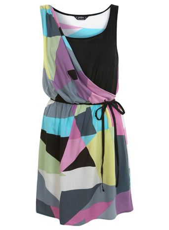 miss selfridge lola print drape dress $35