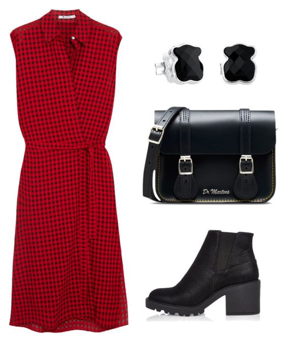 """""""Без названия #1087"""" by martusha200 ❤ liked on Polyvore featuring T By Alexander Wang, River Island, Dr. Martens and TOUS"""