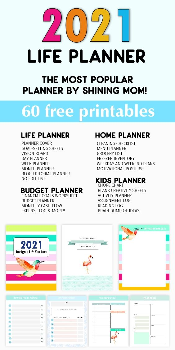 Free Planner 2021 In Pdf Design A Life You Love Mom Planner Printables Life Planner Printables Family Planner Printables