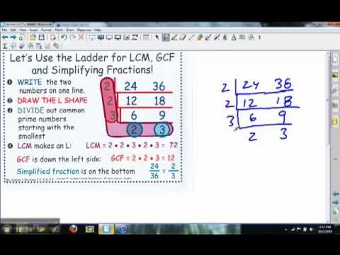 what is the relationship between gcf and lcm ladder