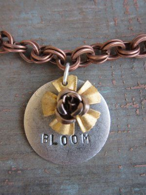 Hand Stamped BLOOM Necklace by BelleVia on Etsy, $42.00
