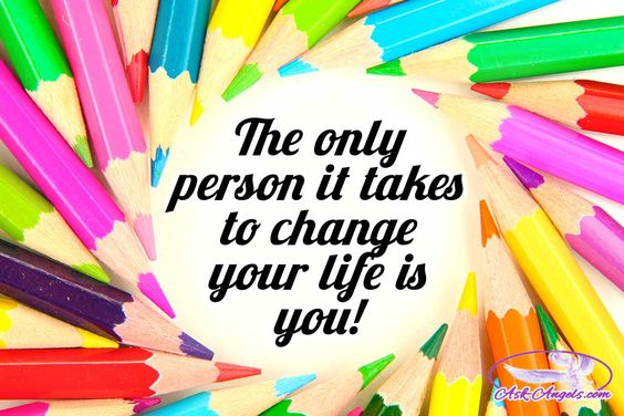 The only person it takes to change your life is you!  #onlyyou #trueself…