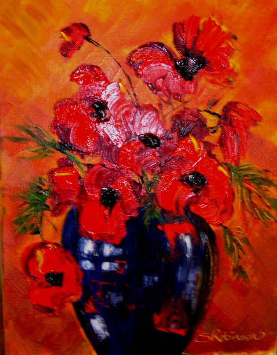 Poppies in Oil Paint