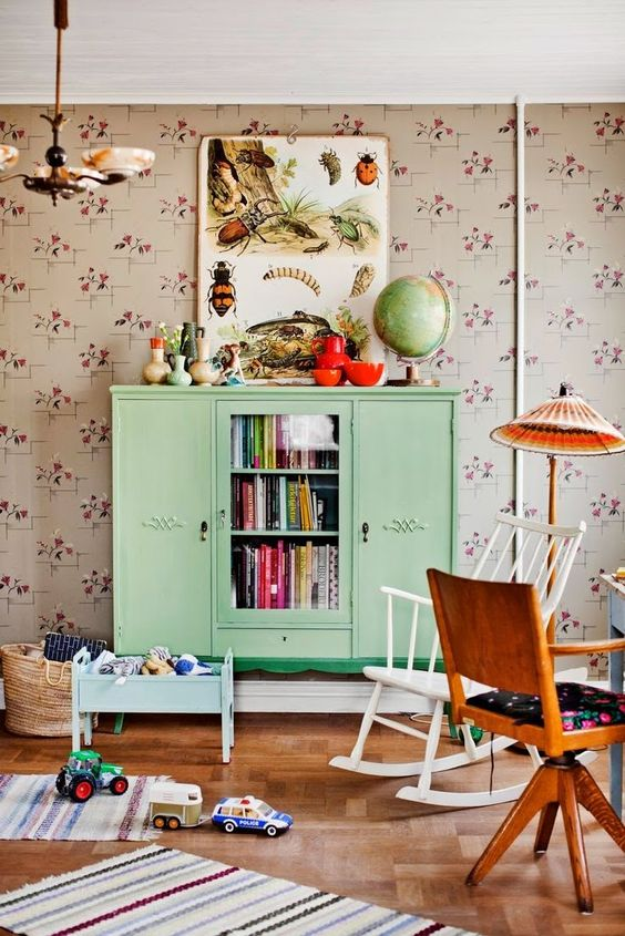 Vintage Kids Room Furniture in Mint Green | The Boo and the Boy: