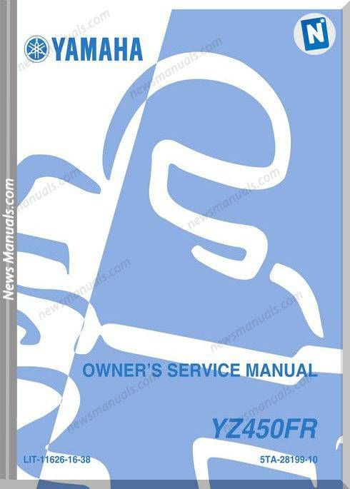 Yamaha Yz450fr 2003 Service Manual Yamaha Manual Service