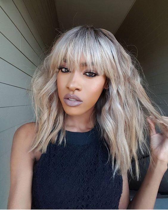 32+ Dark skin with platinum blonde hair ideas