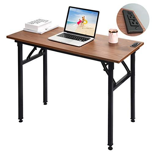 Frylr Small Computer Desk Folding 31 5 X 15 7 X 29 With 2