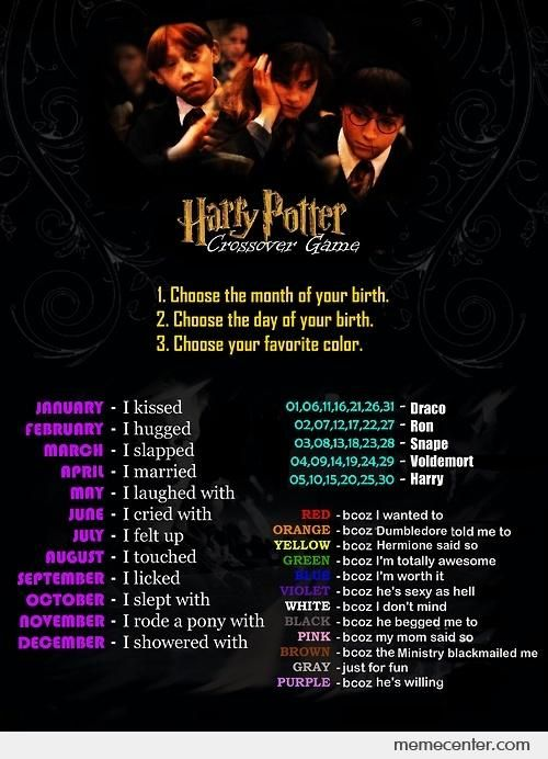 I married Ron because I'm totally awesome. :D