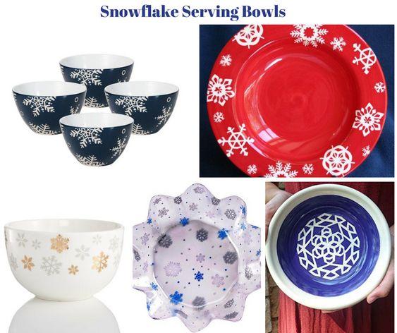 Snowflake Serving Bowls