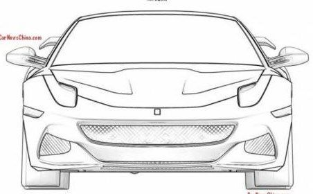 Gambar Sketsa Mobil Tampak Depan Lamborghini Gallardo Mobil Mobil Balap