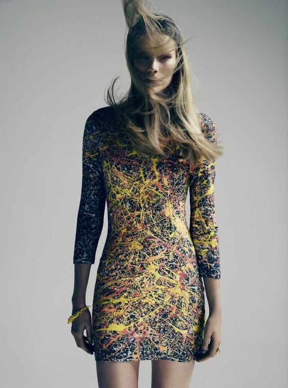 Never Denim X Jackson Pollock Dress Fashion Pinterest