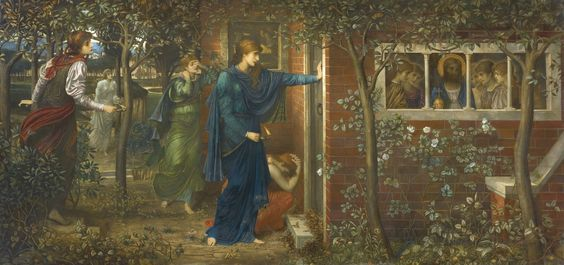 Strudwick, The Ten Virgins (1884, Private Collection):