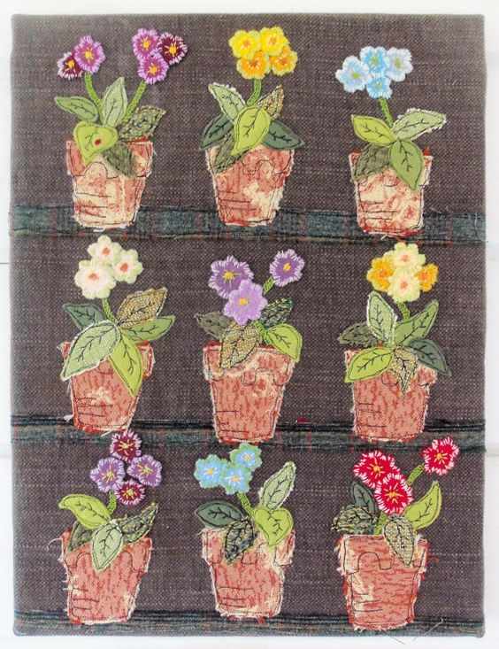 Auricula Theatre Freestyle Machine Embroidery/Applique downloadable pattern: Quilting Patterns, Theatre Applique, Applique Flickr, Bustle Sew, Applique Downloadable, Applied Patterns, Applies Blocks, Auricula Theatres, Applies Inspiration